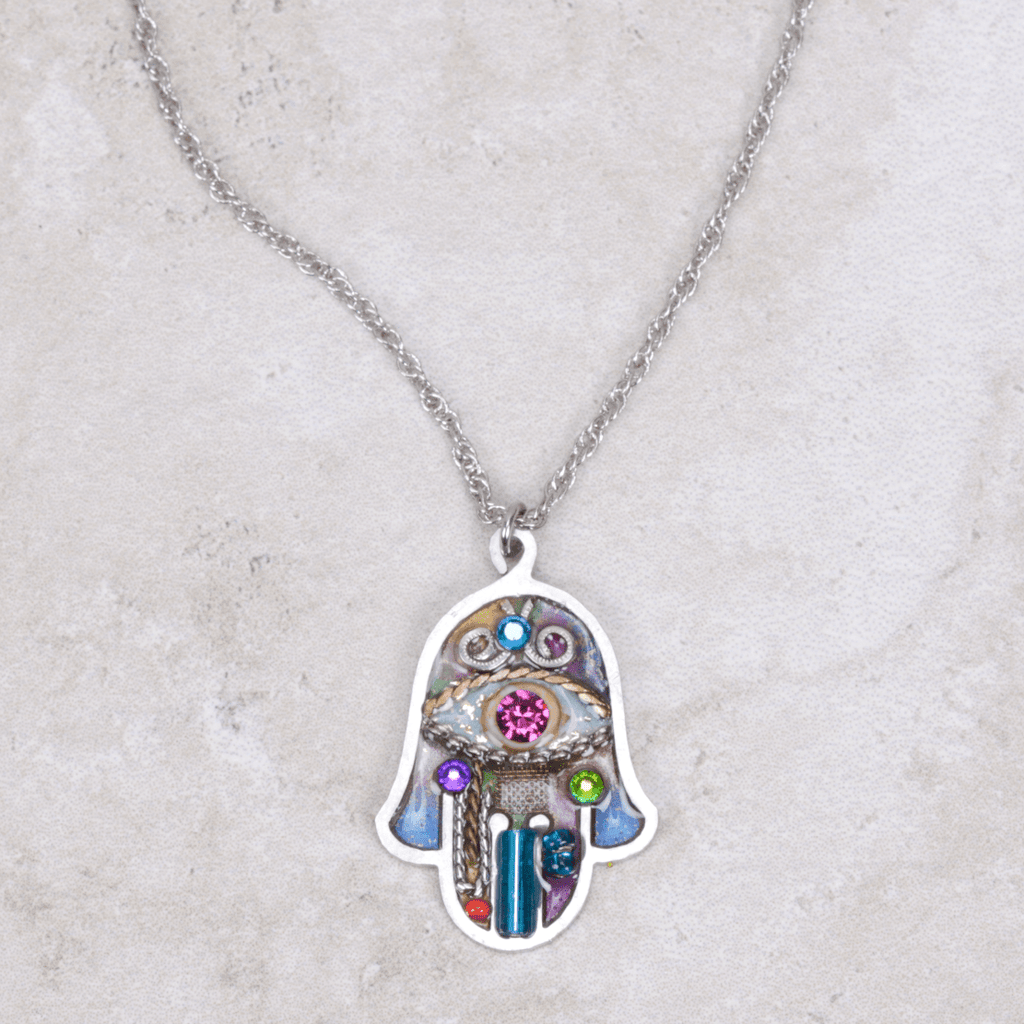 Evil Eye Hamsa Necklace - Seeka - Coco and Duckie