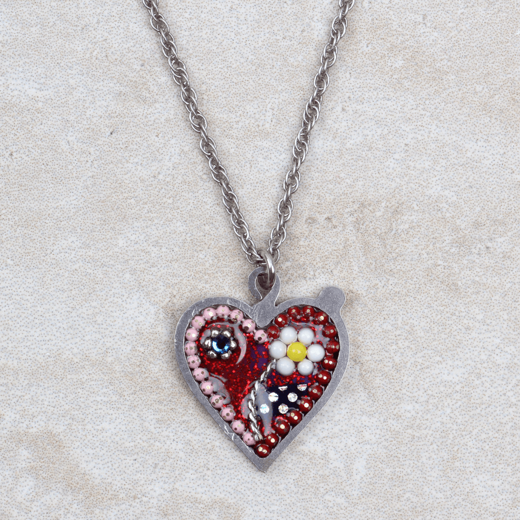 Daisy Heart Necklace - Seeka - Coco and Duckie