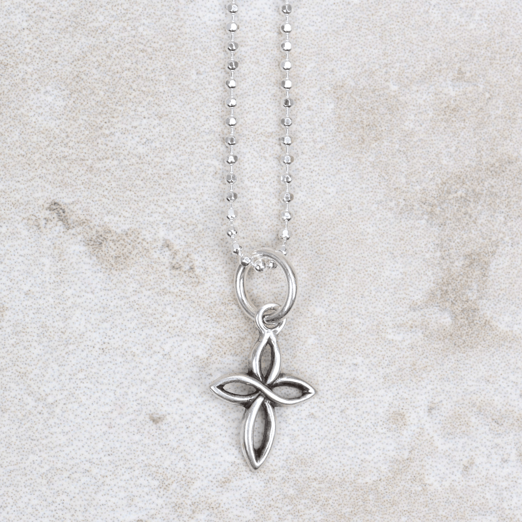 Open Cross Charm - Visible Faith Jewelry - Coco and Duckie