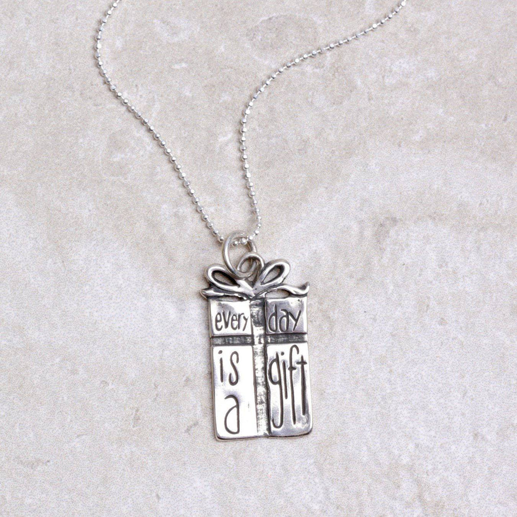 Every Day Is A Gift Pendant - Visible Faith Jewelry - Coco and Duckie