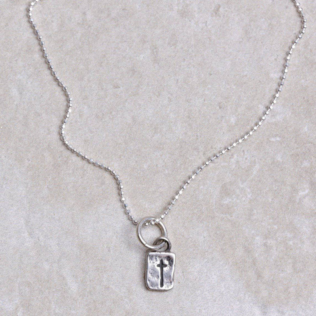 Itty Bitty Cross - Visible Faith Jewelry - Coco and Duckie