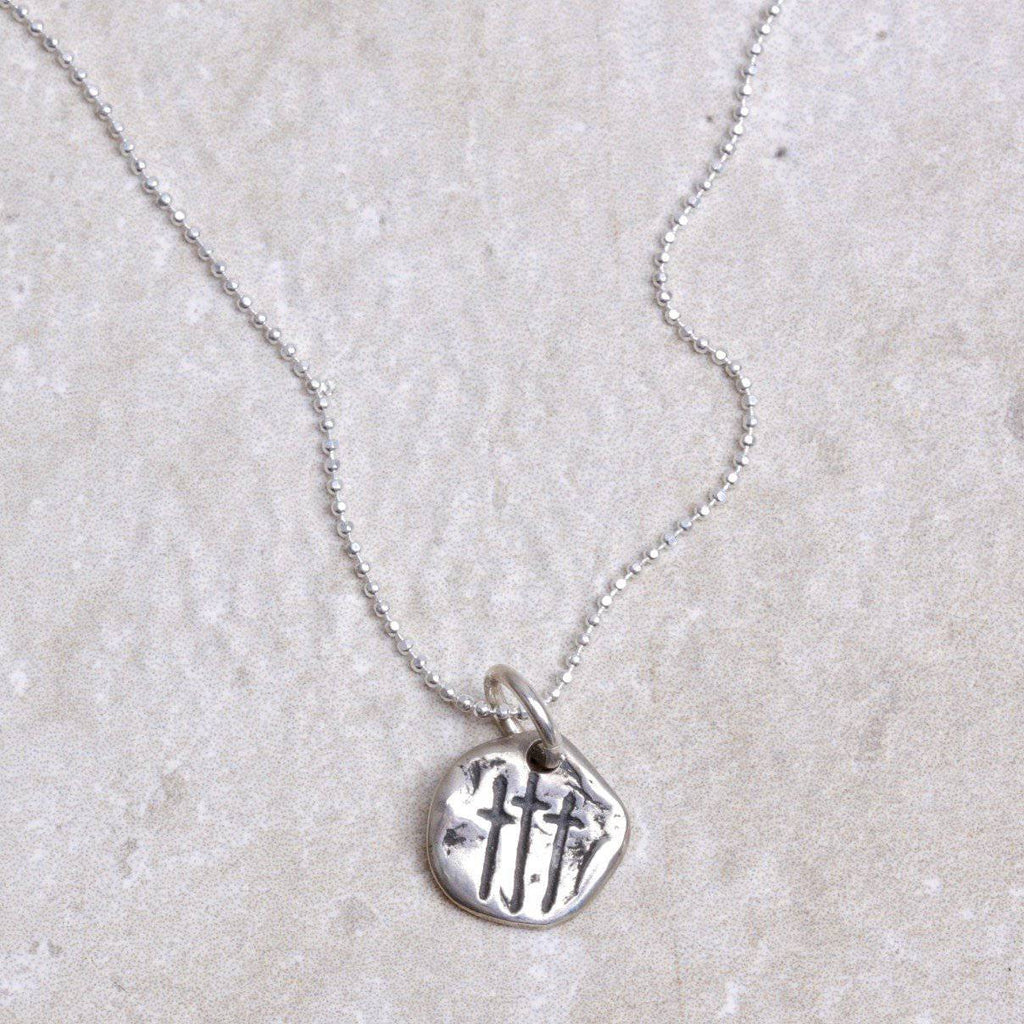 Three Crosses Charm - Visible Faith Jewelry - Coco and Duckie