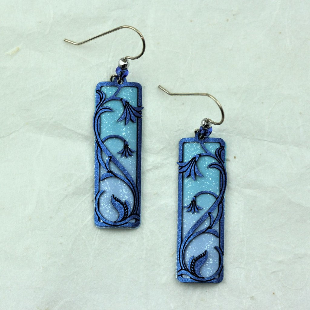 Blue Lillies Earrings