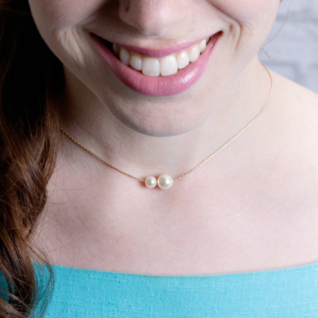 Billie Pearl Necklace | Gold - Grayling - Coco and Duckie