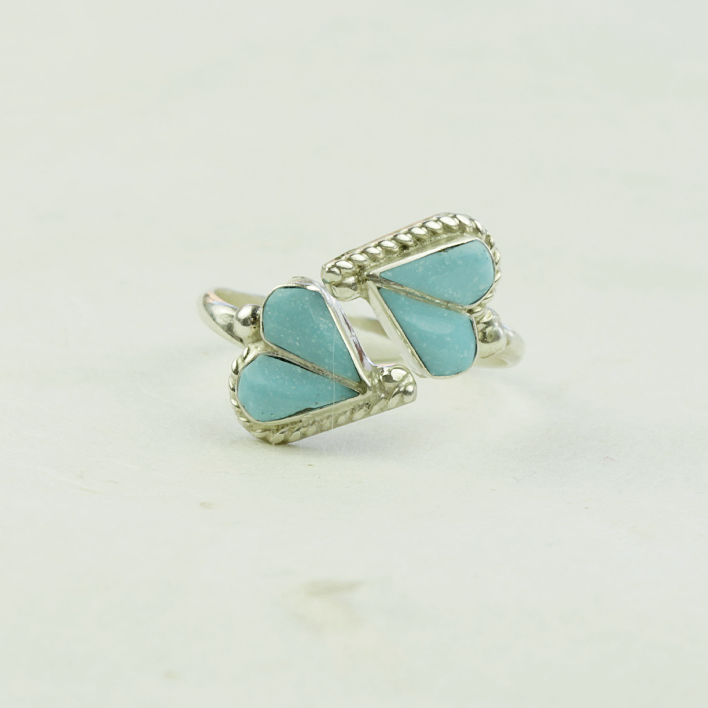 Lorriane Turquoise Ring - Artist Made - Coco and Duckie