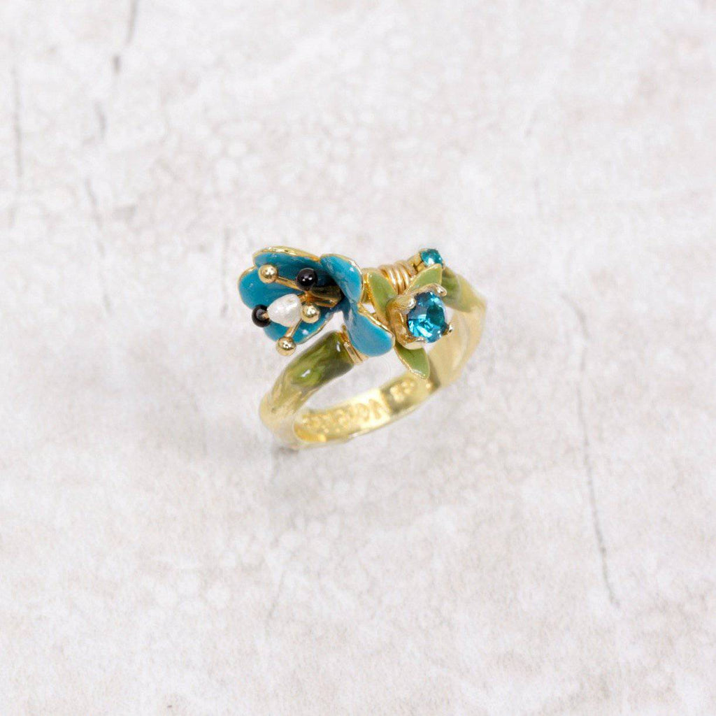 Floral Fable Adjustable Ring - Les Néréides - Coco and Duckie