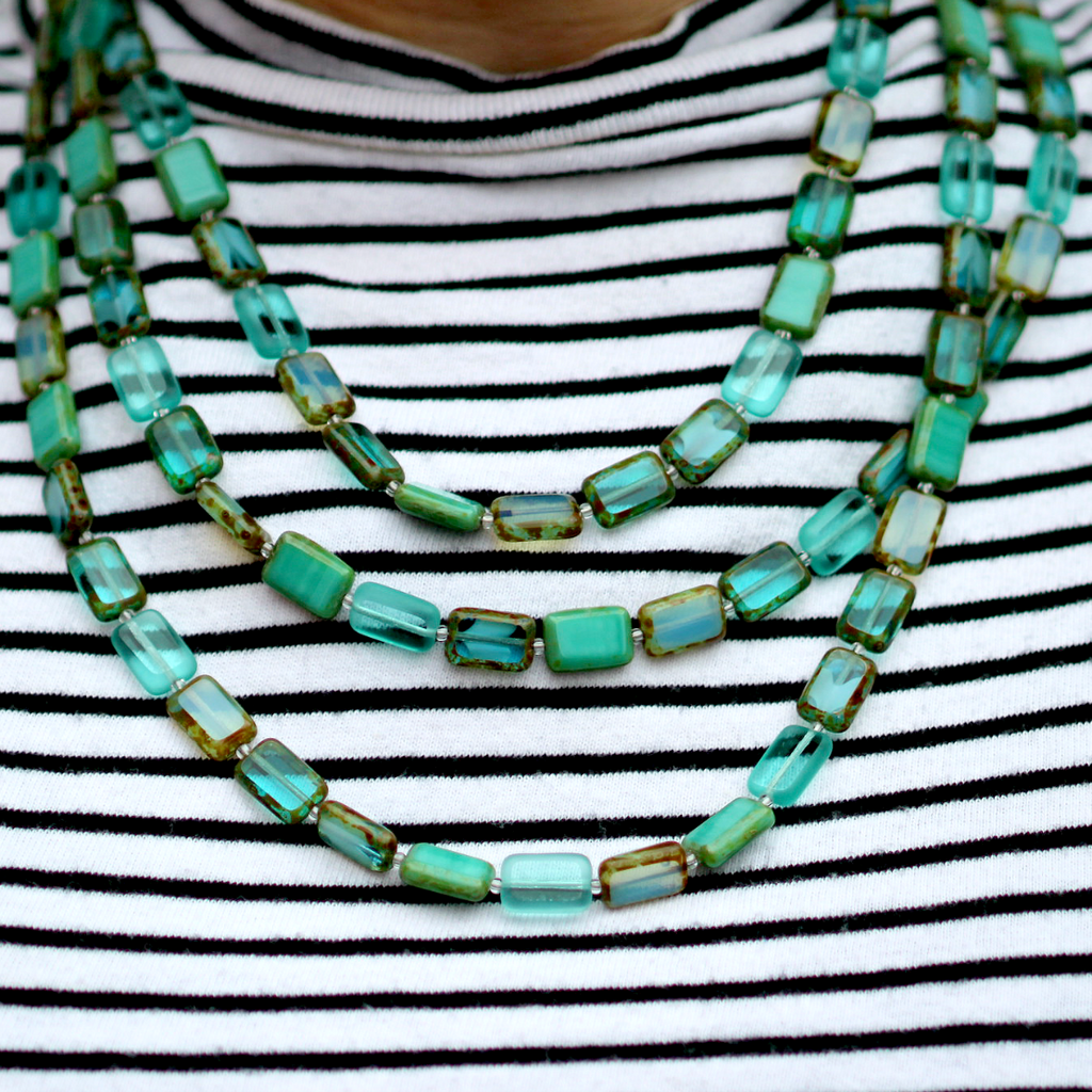 Althea Necklace | Teal Ocean - Coco and Duckie