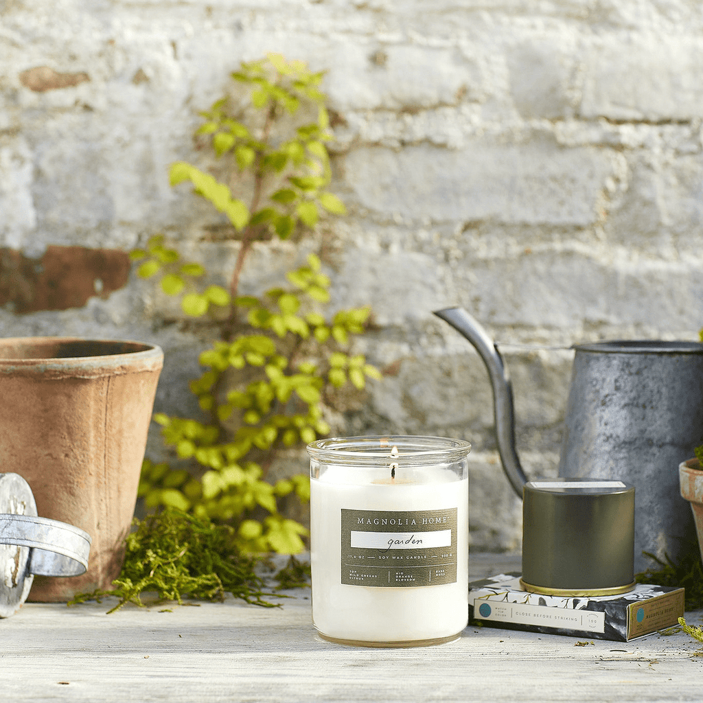 Lidded Glass Candle | Garden - Magnolia Home - Coco and Duckie