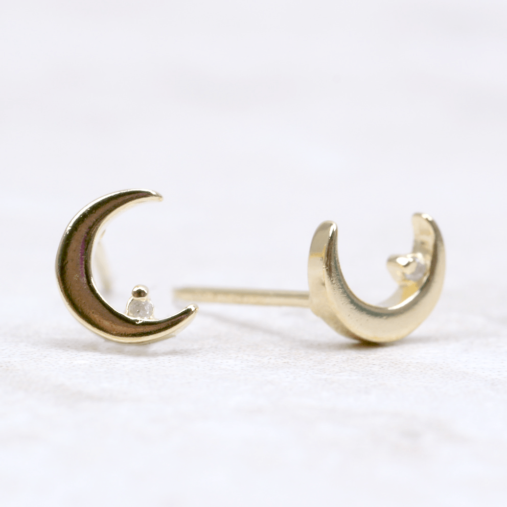 Crescent Moon Earrings - Nikki Smith - Coco and Duckie