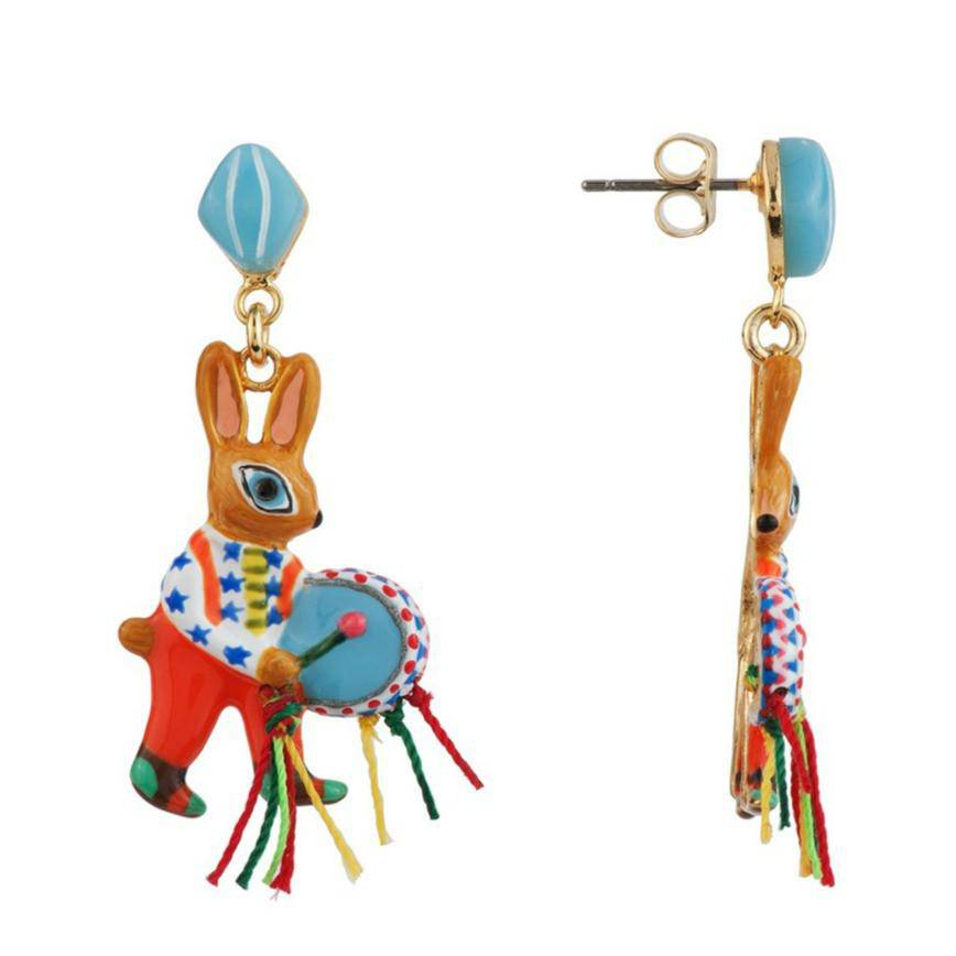 Brass Band Bunny Earrings - N2 - Coco and Duckie