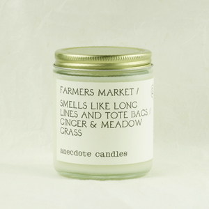 anecdote candles - farmers market candle - coco and duckie