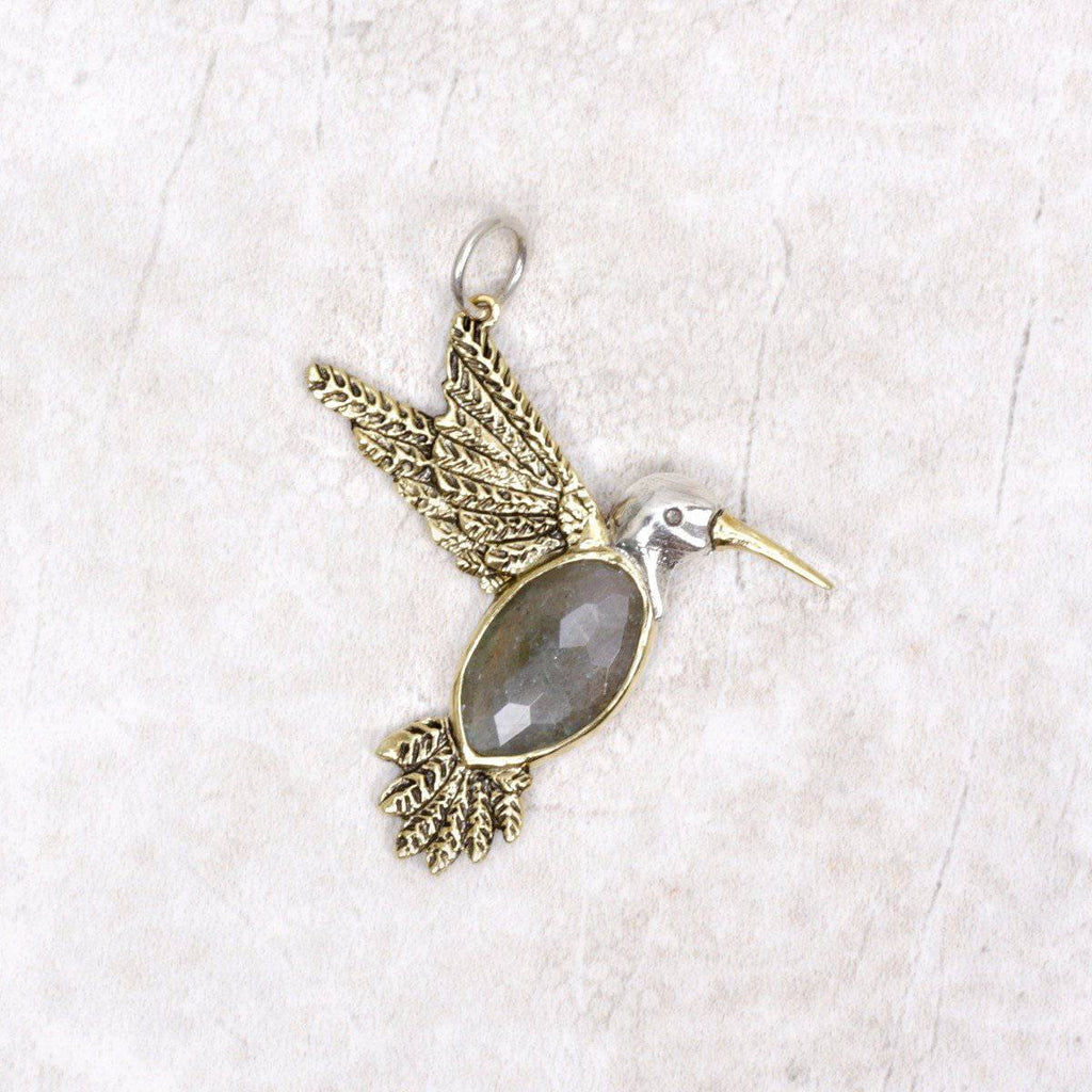 Fly Lightly Hummingbird Pendant - Waxing Poetic - Coco and Duckie
