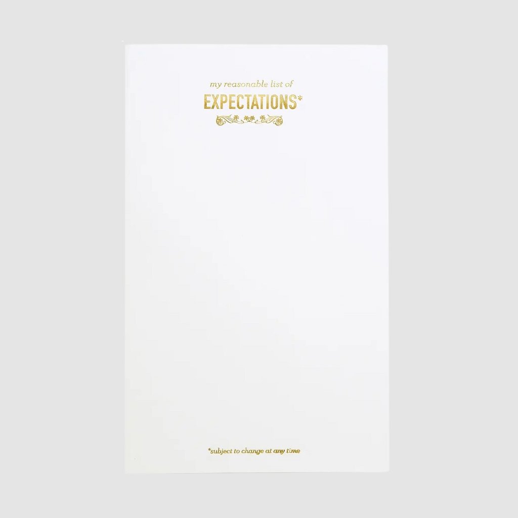 Expectations Notepad