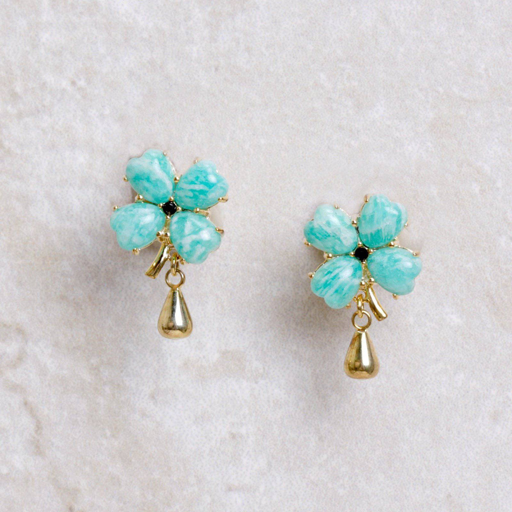 Good Fortune Clover Earrings - Les Néréides - Coco and Duckie