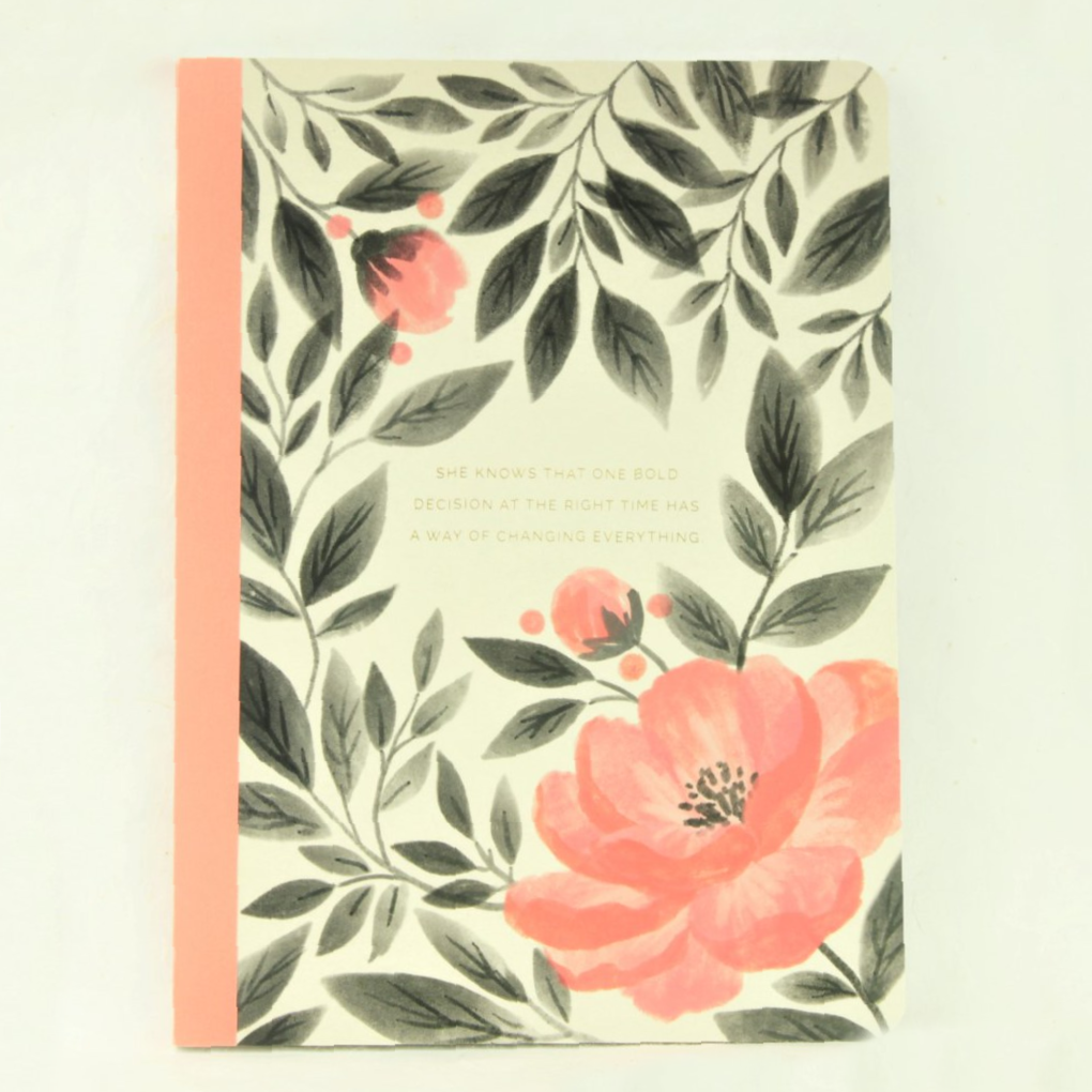 Pink Floral Journal - Compendium - Coco and Duckie