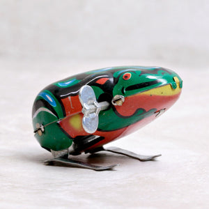 Jumping Frog Retro Tin Toy