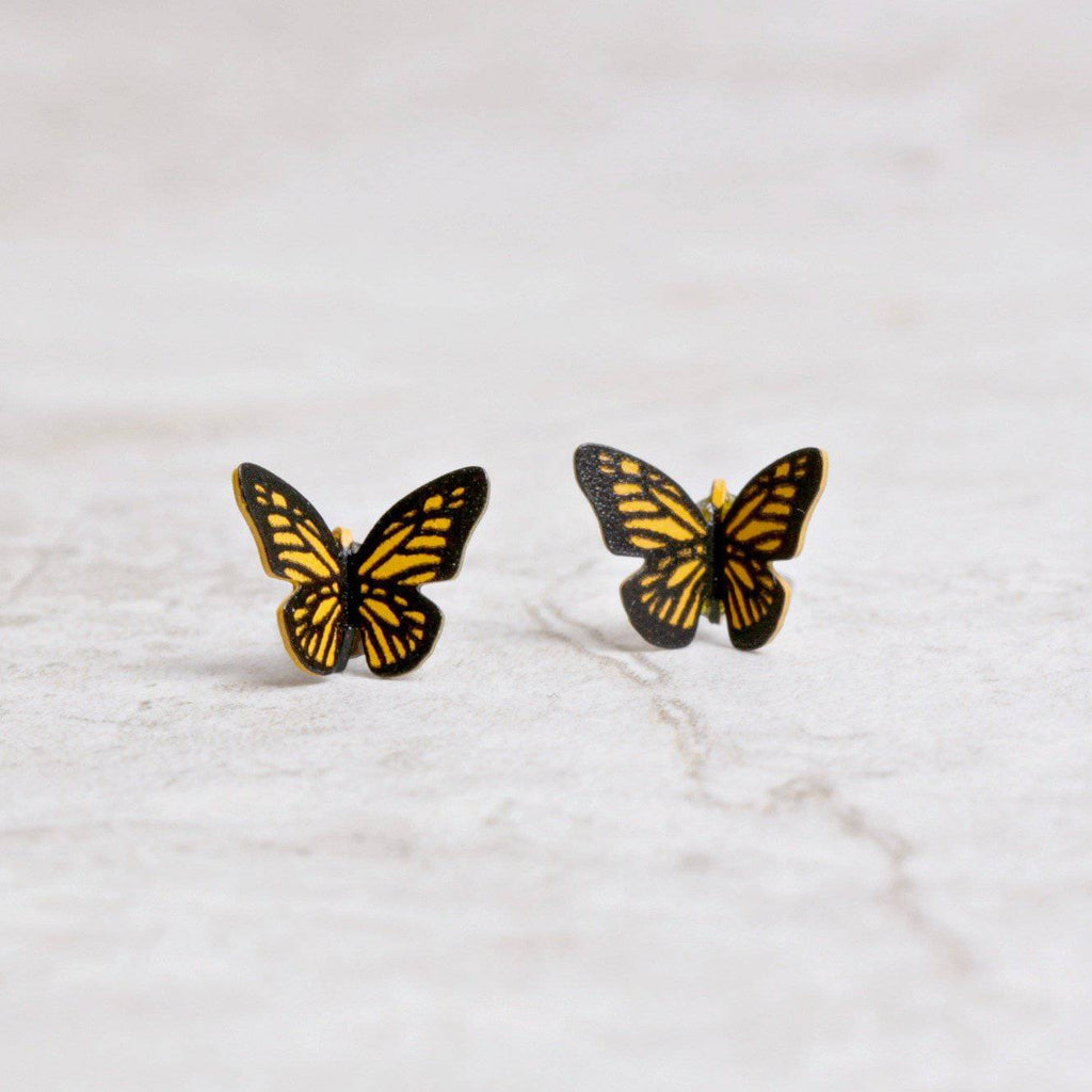 Monarch Butterfly Post Earrings - Sienna Sky - Coco and Duckie
