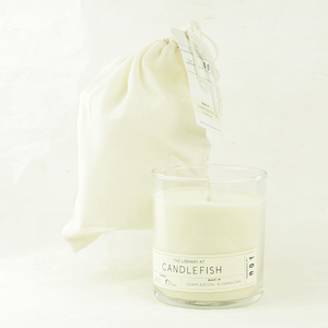 candlefish no. 01 glass candle - coco and duckie