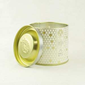 candlefish no. 78 fall gold tin candle with embossed lid - coco and duckie