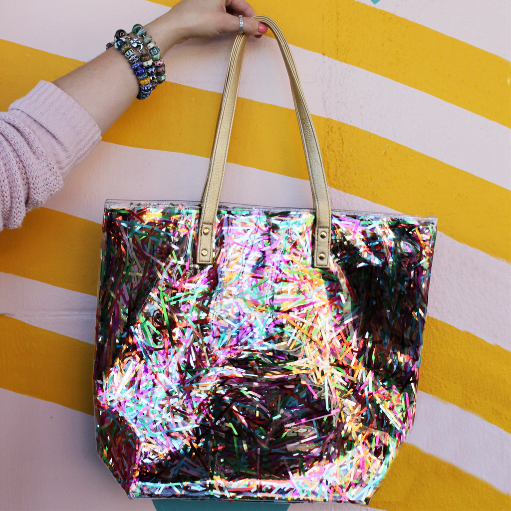 Confetti Tote | Streamers - Packed Party - Coco and Duckie