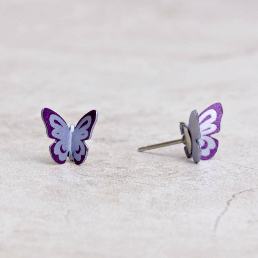 Butterfly Post Earrings | Amethyst - Sienna Sky - Coco and Duckie