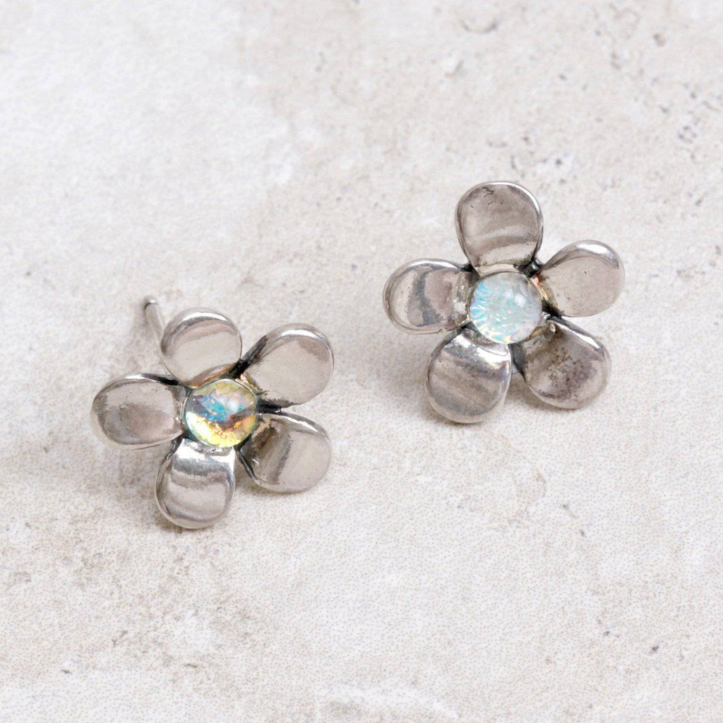 Dichroic Flower Earrings - Trollbeads - Coco and Duckie