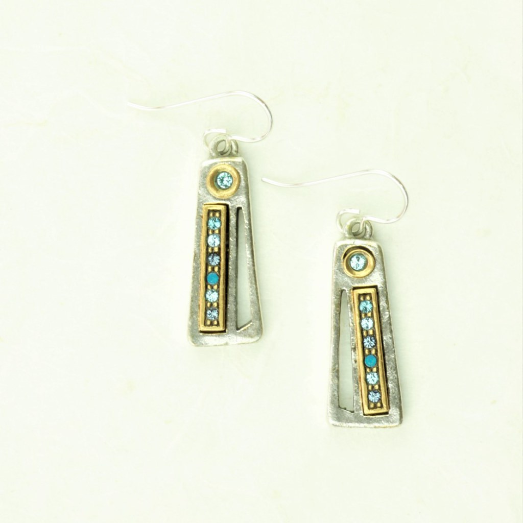 Thick & Thin Earrings in Silver, Bermuda - Patricia Locke Jewelry - cocoandduckie.com