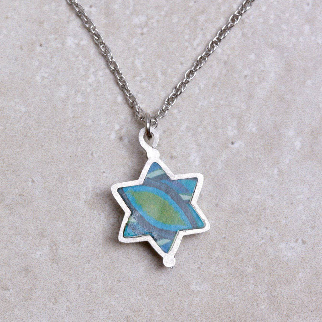 Tekhelet Star of David Necklace - Seeka - Coco and Duckie