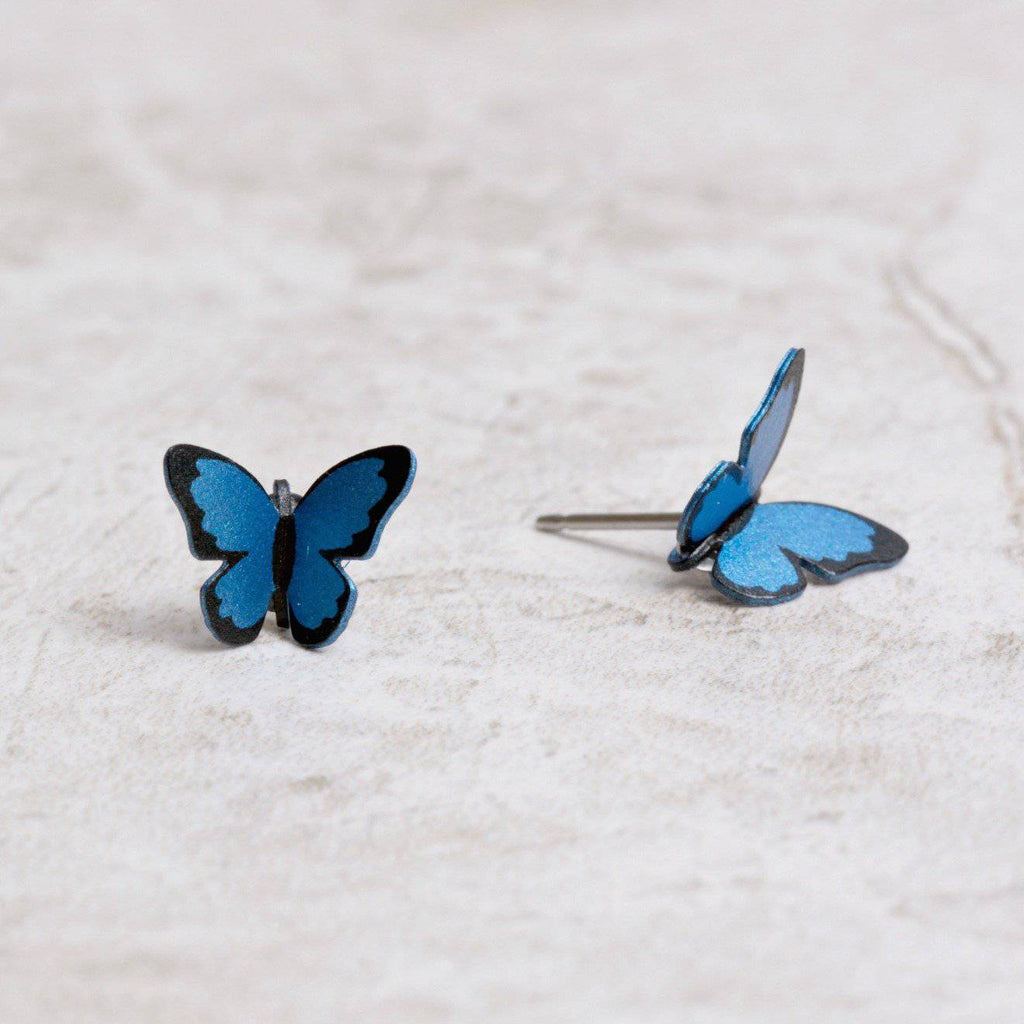 Butterfly Post Earrings | Blue Morpho - Sienna Sky - Coco and Duckie