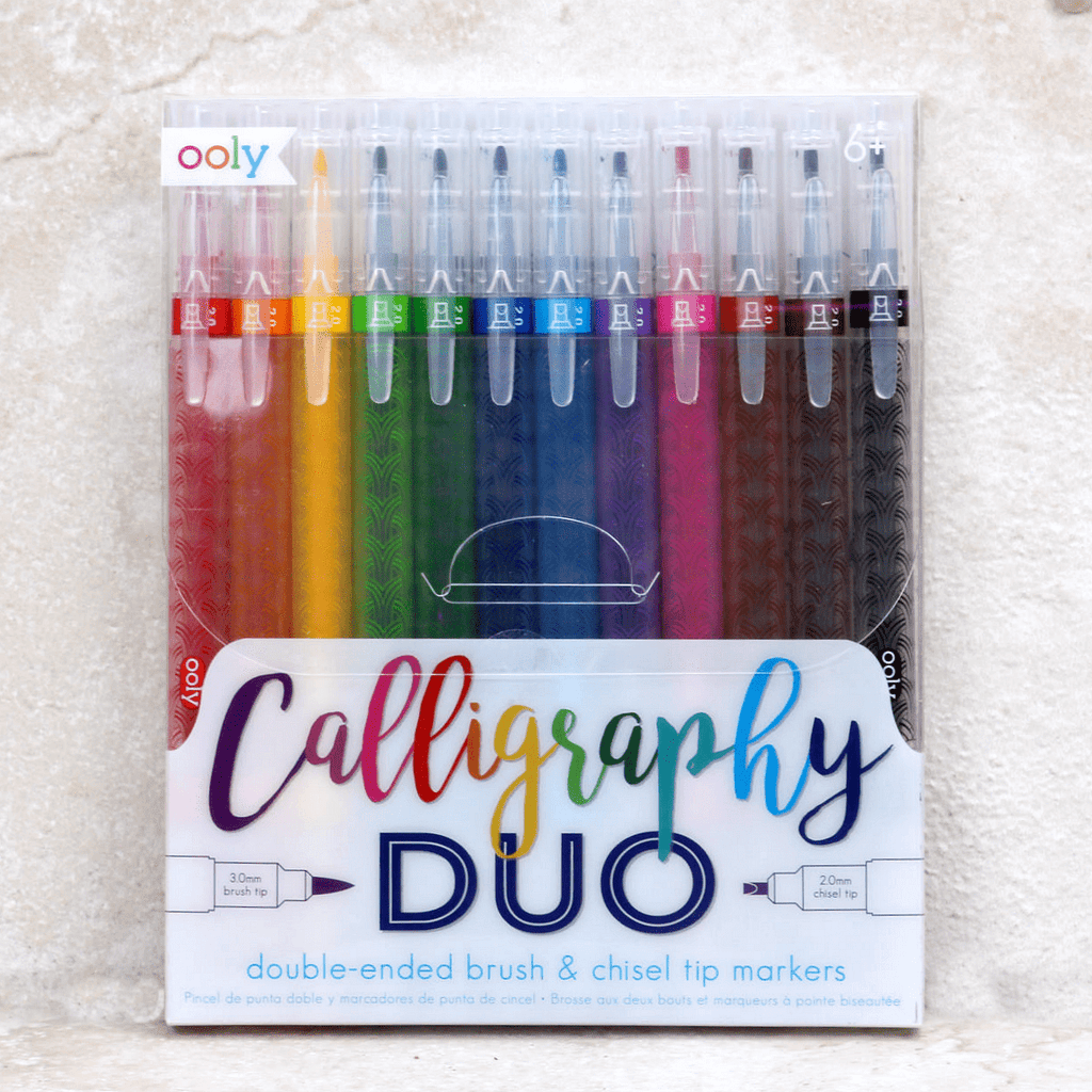 Calligraphy Duo Markers - Ooly - Coco and Duckie