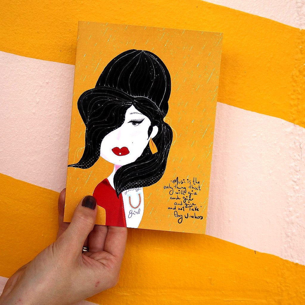 Illustration Card | Amy Winehouse - Coco and Duckie