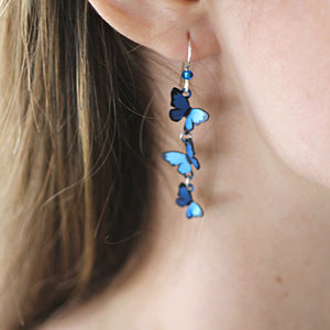 Blue Morpho Kaleidoscope Butterfly Earrings - Coco and Duckie