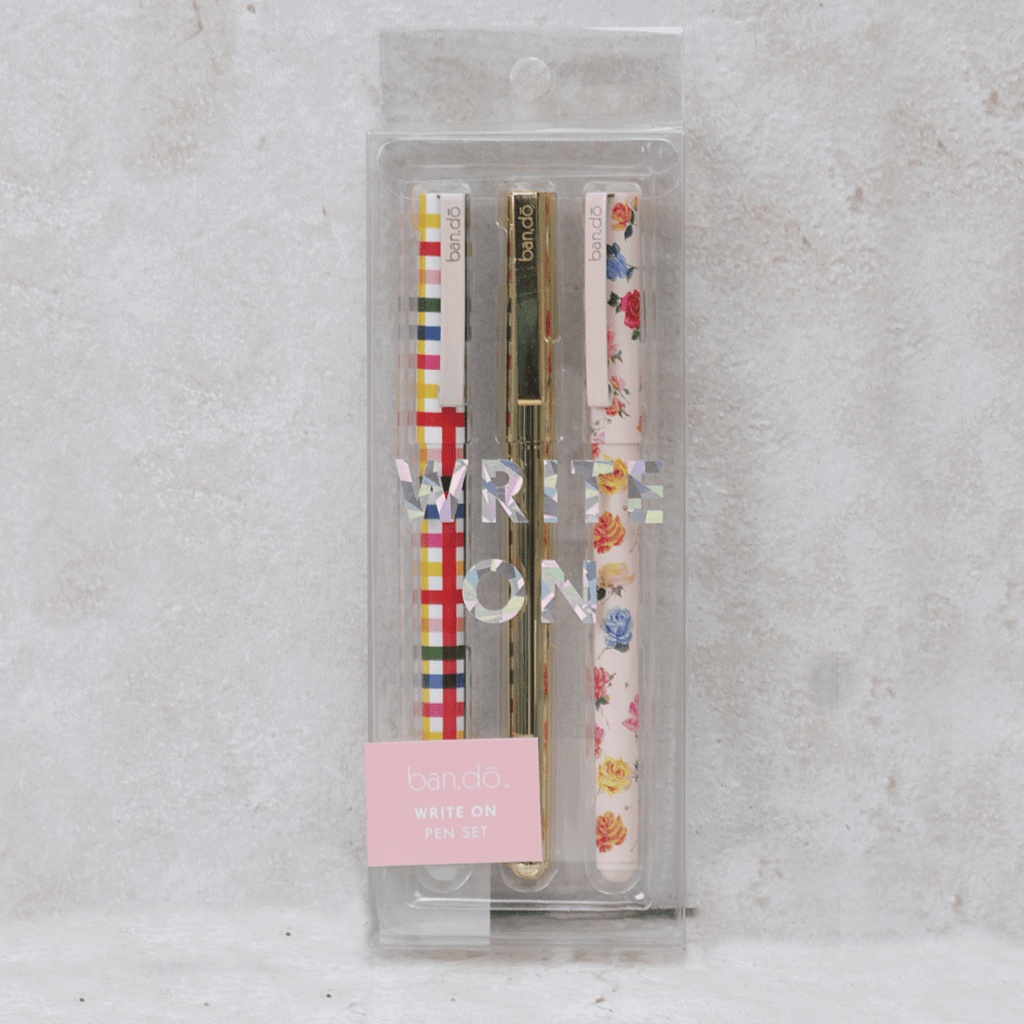 Coming Up Roses Pen Set - Bando - Coco and Duckie