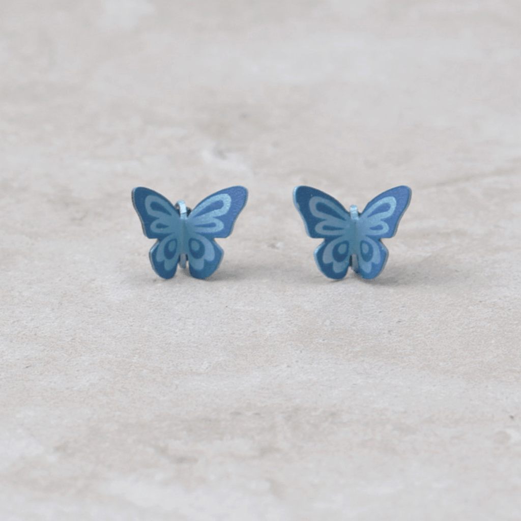 Butterfly Post Earrings | Maya - Sienna Sky - Coco and Duckie