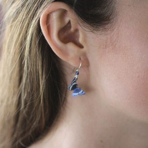 Butterfly Earrings | Dusk Blue - Coco and Duckie
