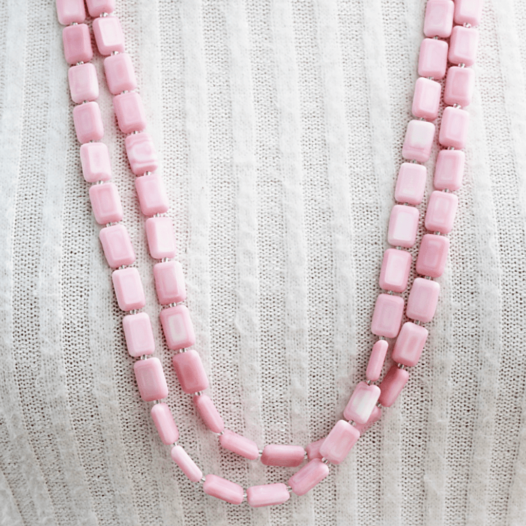 Althea Necklace | Pink - Stefanie Wolf Designs - Coco and Duckie