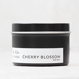 Wood Wick Candle Tin  | Cherry Blossom