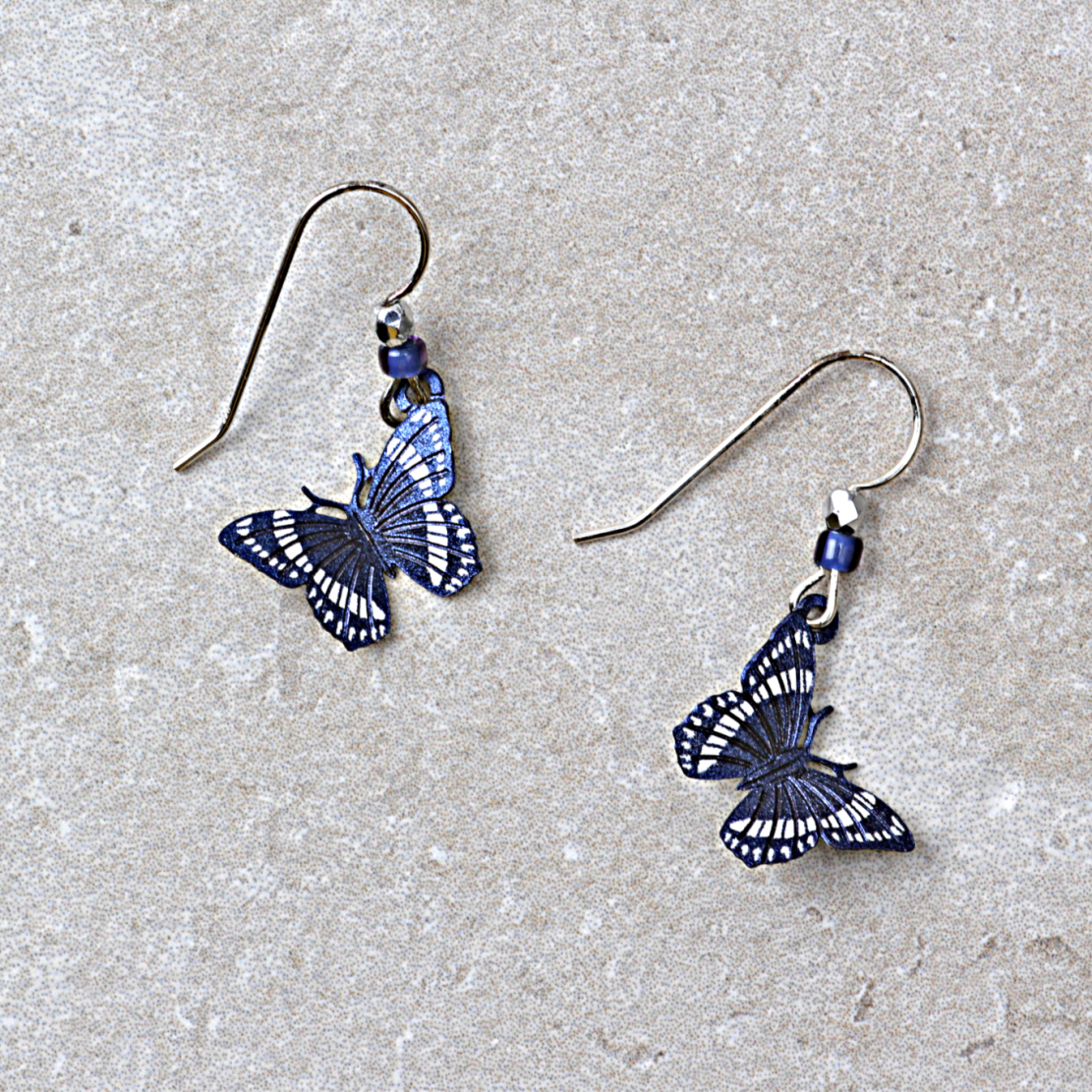 Butterfly Earrings | Dusk Blue