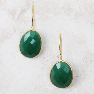 Miriam Green Onyx Earrings - Coco and Duckie