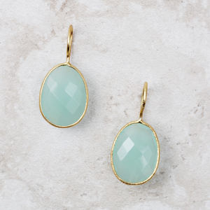 Miriam Lime Chalcedony Earrings - Coco and Duckie