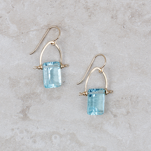 Pennant Earrings | Morning Blue - Coco and Duckie