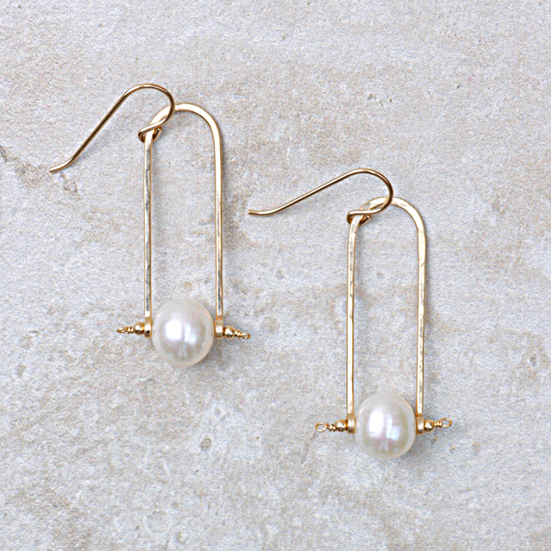 Pearl Trapeze Earrings
