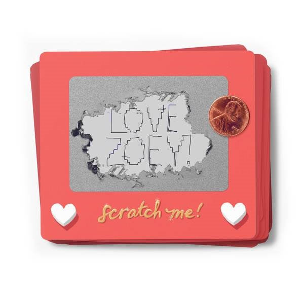 Scratch-a-Sketch Valentines | Box of 18 - Coco and Duckie