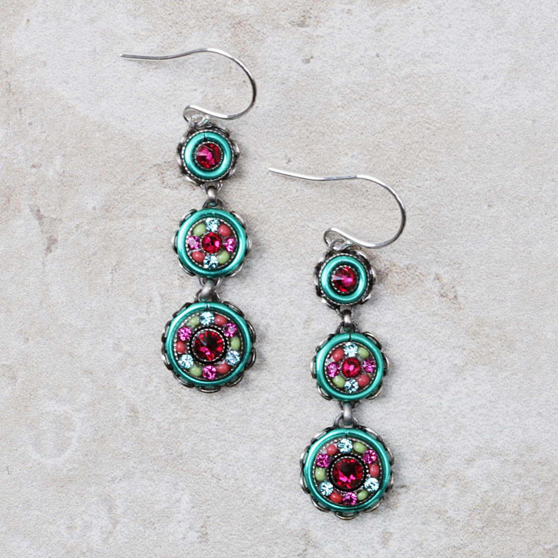 Marla Earrings | Multicolored - Coco and Duckie