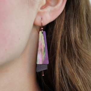 Pietra Earrings | Purple - Coco and Duckie