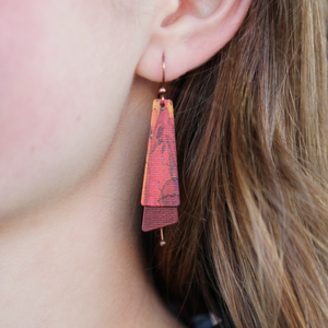 Pietra Earrings | Red - Coco and Duckie