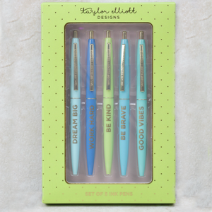 Positive Pen Set - Taylor Elliott Designs - Coco and Duckie