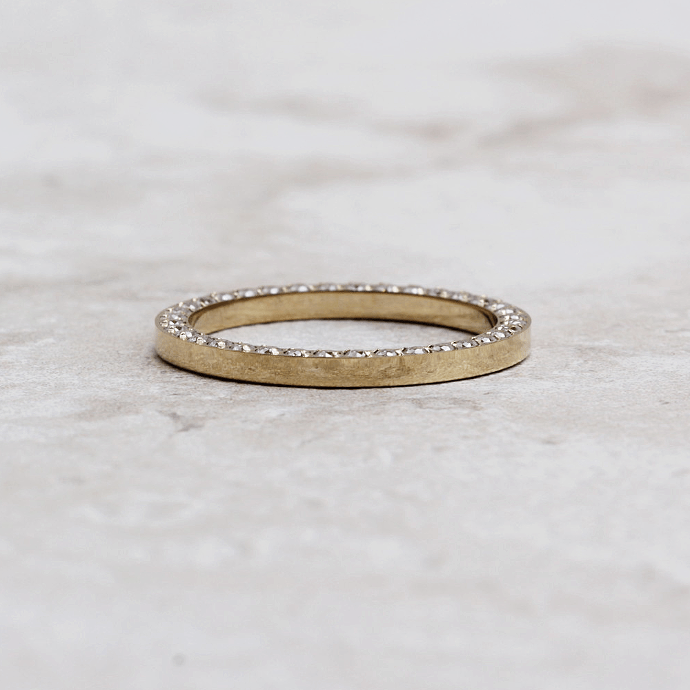 Qudo Siena Gold Ring | Crystal - Qudo - Coco and Duckie