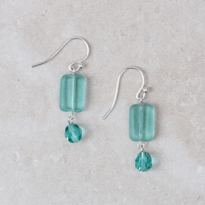 Martha Earrings | Light Green