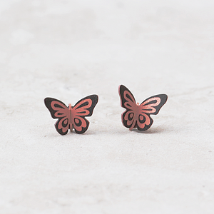 Butterfly Post Earrings | Tiger - Coco and Duckie